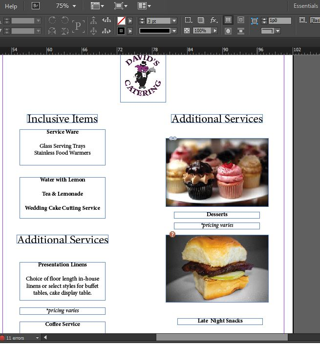 catering menus templates - two wedding catering menu templates for free