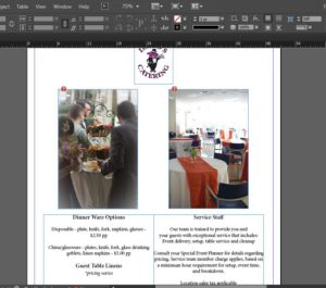 catering menu templates 5