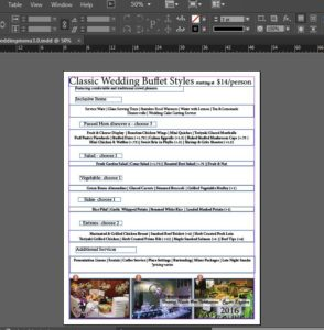 catering menu templates 6