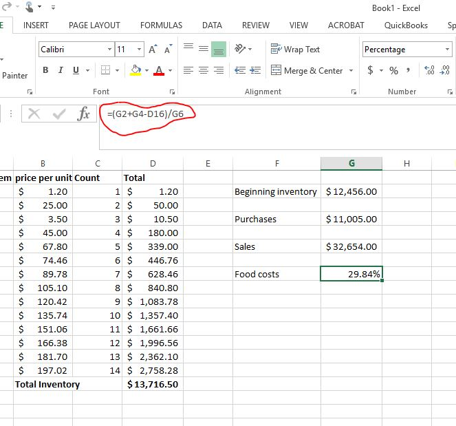 how to calculate food costs 4